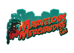 Marvelous Merchandise store specializing in Marvel art, toys, and clothing.